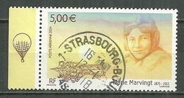 FRANCE Oblitéré 67 Avion Hommage à Marie Marvingt Aviation - Airmail