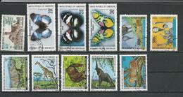CAMEROUN  Scott 611, 644-6, C285-6, 654-8 Yvert 591, 624-6, PA299-0, 634-8 (11) O Cote 8,10  $ 1975-8 - Cameroun (1960-...)