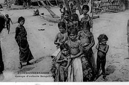 CHANDERNAGOR - Groupe D'enfants Bengalis - Inde