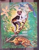 COMORES Animaux En Voie De Disparition, Lemurien, Orchidée, Oiseaux,  Yvert BF 6 ** MNH. - Timbres