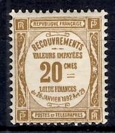 France Timbre-taxe  YT N° 45 Neuf ** MNH. Gomme D'origine. TB. A Saisir! - 1859-1955 Mint/hinged