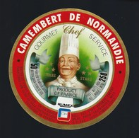 étiquette Fromage Camembert Normandie Gourmet Chef 3* Service  Rumex - Formaggio