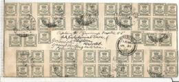 VILLAGARCIA PONTEVEDRA CC A INGLATERRA 1905 CON SELLOS CUARTILLO 1905 MAT BRISTOL - 1889-1931 Reino: Alfonso XIII