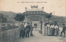 95) L'ISLE ADAM : Entrée De La Plage - L'Isle Adam
