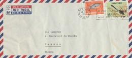 SINGAPOUR - LETTRE COVER SINGAPORE 10/6/1963 POISSON YT 59 + OISEAU YT 6 - Singapour (1959-...)