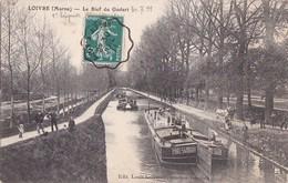 51 LOIVRE  PENICHES  La PORT SAID Patron Henri THUIN  Chemin De Halage CHEVAUX Au BIEF Du GODART Timbre 1911 - Frankreich