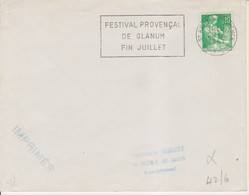 1961 France 13 Bouches-du-Rhône Saint-Rémy-de-Provence Flamme 'Festival Provencal De Glanum' - Postmark Collection (Covers)