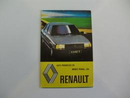Renault Auto Progresso Monte Pedral Lisboa Portugal Portuguese Pocket Calendar 1983 - Calendriers