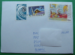 2018 AIRMAIL PRIORITAIRE Letter Sent From MONTREAL DE LAUDE France To KUKES Albania, Seals:: KUKES & TIRANA - France