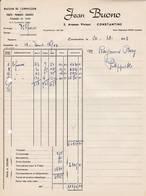 CONSTANTINE Algérie   FACTURE 1953 Fruit Sprimeurs Jean BUONO   A55 - Factures & Documents Commerciaux