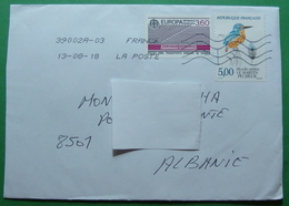 2018 AIRMAIL PRIORITAIRE Letter Sent From LASAUGNE France To KUKES Albania, Seals:: KUKES & TIRANA - France