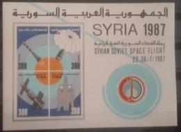 Syria 1987 MS 1508 MNH S/S - Souvenir Sheet - Block 67 :Syrian Soviet Space Flight - Cv 20$ - Syrie