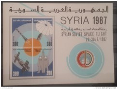 V25 - Syria 1987 MS 1508 MNH S/S - Souvenir Sheet - Block 67 :Syrian Soviet Space Flight - Cv 20$ - Syrie