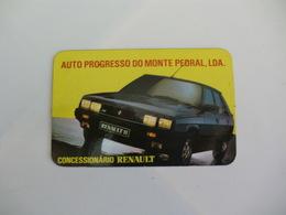 Renault 11 Auto Progresso Monte Pedral Lisboa Portugal Portuguese Pocket Calendar 1984 - Calendriers