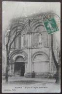 Matha (Cher) - Façade De L'Eglise Sainte-Marie - Carte Animée Et Circulée - France