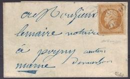 Non Dentelé N°13A Sur LSC D'origine Rurale Signée Dillemann Et Calves, Boîte Rurale Z. - Postmark Collection (Covers)