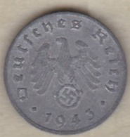 1 Reichspfennig 1943 F (STUTGART)  En Zinc - [ 4] 1933-1945 : Third Reich