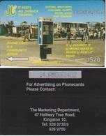 JAMAIQUE CARAÏBES PREPAYEE GST 14JAMD CABINE TELEPHONIQUE JS20 - Jamaica