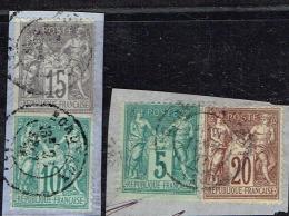 C4- N°64, 65, 66 Et 67 Tous TB Cote CERES 2008 125 Euros - 1876-1878 Sage (Type I)