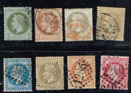 C4- N°25 à 32 Série Lauré Timbre En Bon état Cote 220 Euros - 1863-1870 Napoléon III Lauré