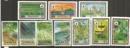 Conservation Des Richesses Naturelles Aux îles SAMOA  10 Timbres Neufs **  Côte 20,00 Euro - Samoa