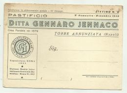 TORRE ANNUNZIATA - PASTIFICIO JENNACO - CM. 15X11 - Pubblicitari