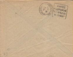 1920s France 12 Aveyron Villefranche De Rouergue Flamme Daguin 'La Perle Du Rouergue' - Postmark Collection (Covers)
