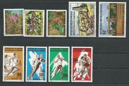 CAMEROUN  Scott 674-675, 680-681, C287-C290 Yvert 652-654, 660-661, PA301-PA304 (9) ** Cote 10,80  $ 1980 - Cameroun (1960-...)
