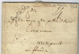 C5- Petite Poste De Nantes Loire Inferieure 1728 - Marcophilie (Lettres)