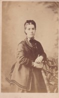 ANTIQUE CDV PHOTO. LADY BY RUSTIC FENCE.  DOVER   STUDIO - Photographs