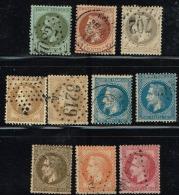 C8- Série Complète De Napoléon Lauré.  Timbres Sans Défaut . Cote   Maury  2009  233 Euros - 1863-1870 Napoleon III With Laurels