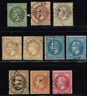 C8- Série Complète De Napoléon Lauré.  Timbres Sans Défaut . Cote   Maury  2009  233 Euros - 1863-1870 Napoléon III Lauré