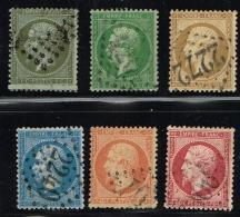 C8- Série Complète De Napoléon Dentelé.  Timbres Sans Défaut . Cote   Maury  2009  120 Euros - 1862 Napoléon III