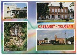Castanet-Tolosan - Multivues - Poste - Château - Statue De La Vierge - Terrain De Sport - Voir Scan - France