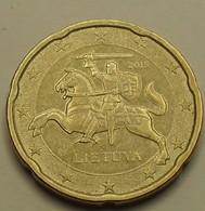 2015 - Lituanie - Lithuania - 20 CENT EURO - KM 209 - Lituania