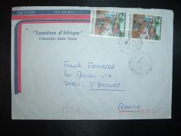 LETTRE TP JOURNEE INTERNATIONALE DE L'ENVIRONNEMENT 60F Paire OBL.31-1 1987 - Congo - Brazzaville