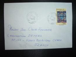 LETTRE TP VITRAUX 200F OBL.16-1 1995 ABIDJAN 08 - Ivory Coast (1960-...)