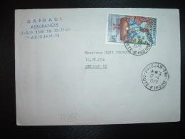 LETTRE TP INDEPENDANCE 60F OBL.17-4 1979 ABIDJAN TRI - Ivory Coast (1960-...)