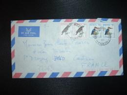 LETTRE TP OISEAU 7/ Paire + TP OISEAU 3/ Paire OBL.18 SEP 95 - Kenya (1963-...)