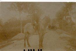 ANIMAUX 68 : Carte Photo J Jougla Paris ; Cavalier Sur Son Cheval - Pferde