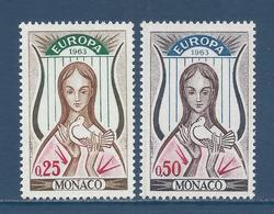 Monaco - YT N° 618 Et 619 - Neuf Sans Charnière - 1963 - Monaco