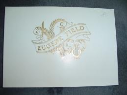 Ancien Papier Intérieur De Boite à Cigare   Excellent état  Eugene Field - Documents