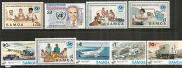 Fonds Des Nations-Unies Pour L'Enfance UNICEF.  9 Timbres Neufs ** Des îles SAMOA. Côte 25,00 Euro - Samoa