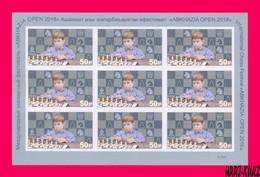 "ABKHAZIA 2018 Sport Game International Chess Festival ""ABKHAZIA OPEN 2018"" Sheetlet Imperforated MNH - Chess"