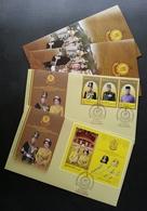 Malaysia Installation Of KDYMM Sultan Sallehuddin Kedah 2018 Royal King (FDC Pair) *metallic Gold Ink *unusual - Malaysia (1964-...)