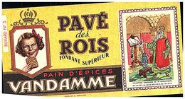 P V /Buvard N° 5 Pain D'épices Vandamme  (Format 10 X 19) (N= 5) - Pain D'épices