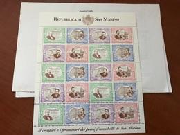 San Marino 120 Years Stamps M/s 1997 Mnh - San Marino