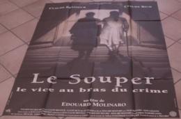 AFFICHE CINEMA ORIGINALE FILM LE SOUPER Edouard MOLINARO Claude RICH Claude BRASSEUR 1992 TBE - Posters