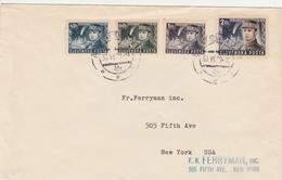 Slovaquie Lettre Pour Les Etats Unis 1939 - Storia Postale