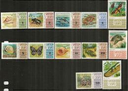 Faune Des îles SAMOA.  12 Timbres Neufs **  Yv.nr 305/14 + 323,358 Hautes Faciales. Côte  50,00 Euro - Samoa